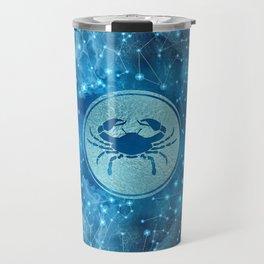 Cancer Zodiac Sign Water element Travel Mug