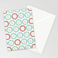 Block Print Circles Stationery Cards