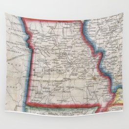 Vintage Map of Missouri (1848) Wall Tapestry