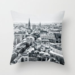 City of Hamburg from the Top of St. Michael's Church Throw Pillow