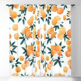 Orange Twist Flower Vibes #6 #tropical #fruit #decor #art #society6 Blackout Curtain