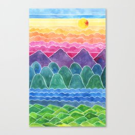 The Happy Place Enchanted Land Canvas Print
