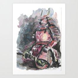 Chinese warrior Art Print