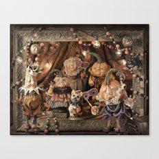Rucus Studio Pumpkin Society Masquerade Ball Canvas Print