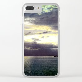 Vintage Sunset Waters : St Lawrence River 1901 Clear iPhone Case