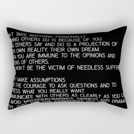 The Four Agreements #minimalist 2 Rectangular Pillow