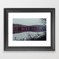 Lakeside Trail in November Framed Art Print