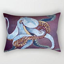 Metallic Octopus III Rectangular Pillow