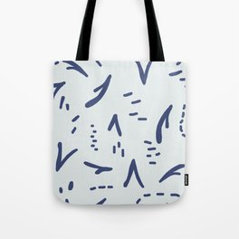 Blue Vee on Blue Tote Bag