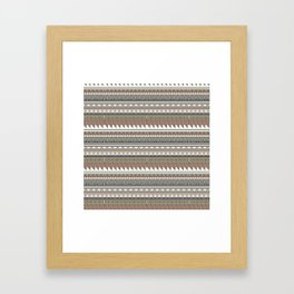 Tribal clay Framed Art Print