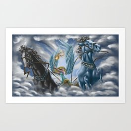The Allegory of the Chariot Art Print