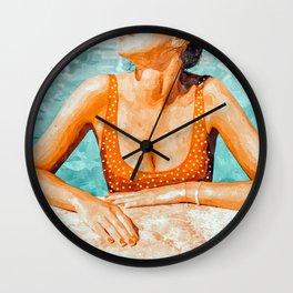 Mi Bebida Por Favor #painting #summer Wall Clock