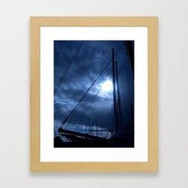 sunset and sailing Framed Art Print