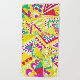 Circus Candy Gemetic Beach Towel