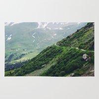 switzerland Area & Throw Rugs featuring Switzerland by Tana Helene