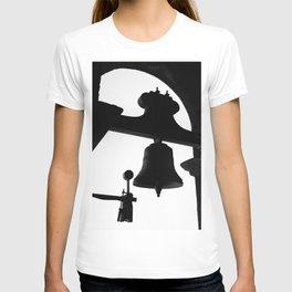 Church bell silhouette T-shirt
