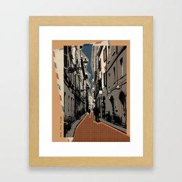 Parma -vintage post card Framed Art Print