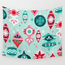 Christmas Ornaments – Mint Palette Wall Tapestry