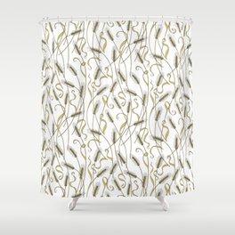 Art Nouveau - Scattered Wheat Shower Curtain