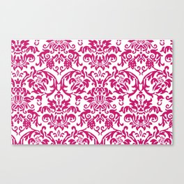 Elegant Damask Pattern (fuchsia) Canvas Print