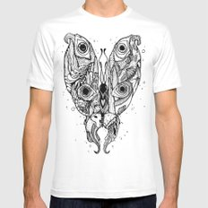 my sea butterfly Mens Fitted Tee White MEDIUM
