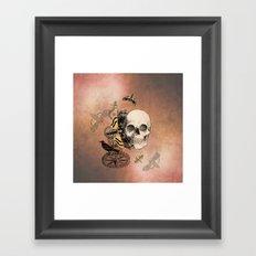 Death's Head Moth Framed Art Print