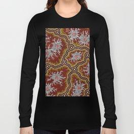 Aboriginal Art Authentic - Mountains Long Sleeve T-shirt