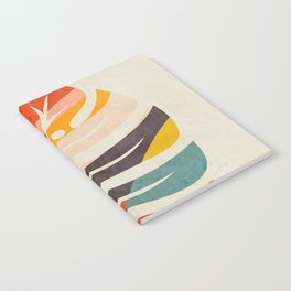 shape leave modern mid century Notebook