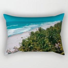 Waves and Palms Rectangular Pillow