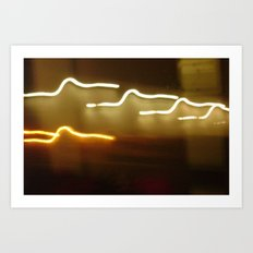 all of the lights... Art Print