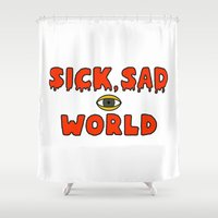 daria Shower Curtains featuring Daria Sick and sad world by Komrod