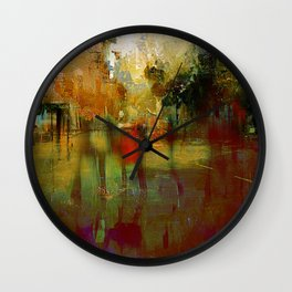 Melancholic walk Wall Clock