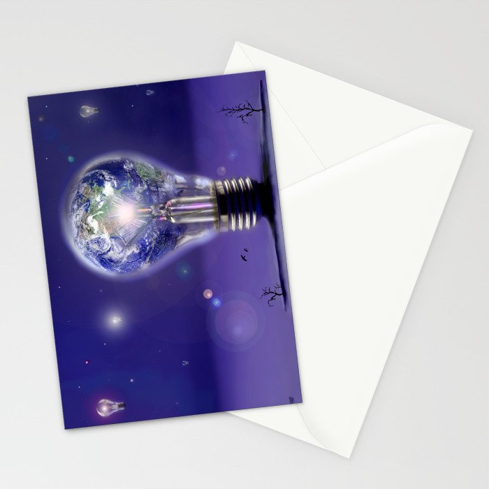 The sun is a light bulb Stationery Cards