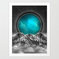Fade Away | Lunar Eclipse Art Print