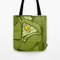 hustle Tote Bags featuring HUSTLE by clogtwo