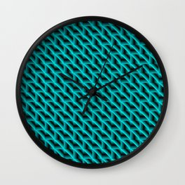 A woven saturated pattern of heavenly squares and dark rhombs with diagonal volumetric triangles. Wall Clock