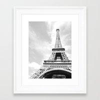 eiffel Framed Art Prints featuring Eiffel by Fallon Chase