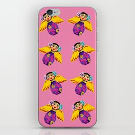 Mexican Angels Hot Pink iPhone Skin