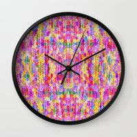 rug Wall Clocks featuring Shabby Rug by Glanoramay