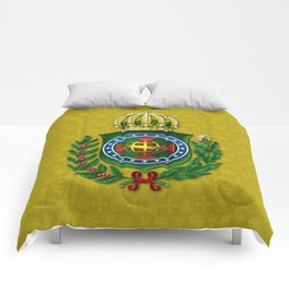 Dom Pedro II Coat of Arms Comforters