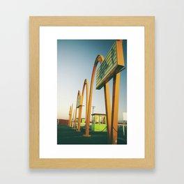 Sin City Drive-In II Framed Art Print