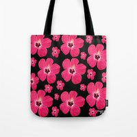 hibiscus Tote Bags featuring Hibiscus   by maggs326