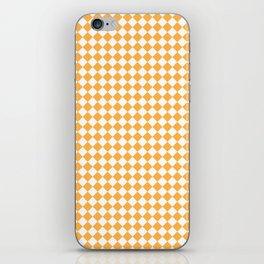 Small Diamonds - White and Pastel Orange iPhone Skin