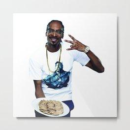 Snoop and Cookies Metal Print