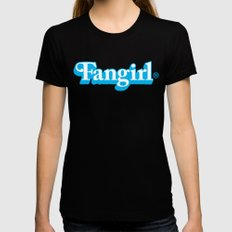 Fangirl Womens Fitted Tee SMALL Black