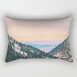 Sunset Through the Valley Rectangular Pillow