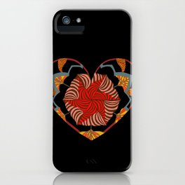 Hearts can be broken but strings will keep them together iPhone Case