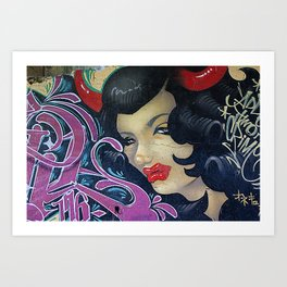 Graffiti Girl Art Print