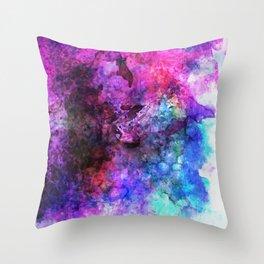 Purple Watercolor Throw Pillow