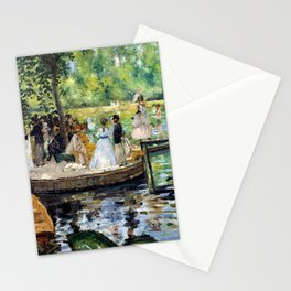 12,000pixel-500dpi - Pierre-Auguste Renoir - The Grenouillere - Digital Remastered Edition Stationery Cards